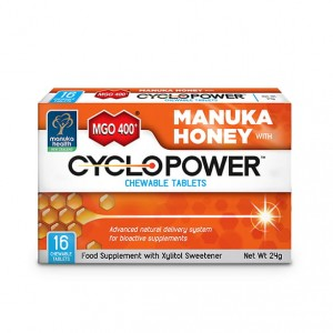 Tabletki do Ssania CycloPower™ z Ksylitolem i Miodem Manuka MGO™ 400+